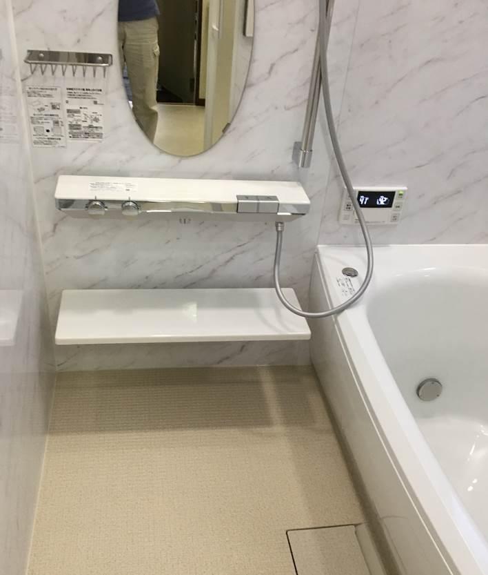 2-3 浴室 タイル風呂⇒ ユニットバス