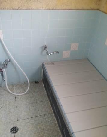 3-9 浴室 タイル風呂⇒ユニットバス 施工前
