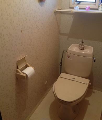 4-7 トイレ 洋便器 ⇒ 洋便器 施工前