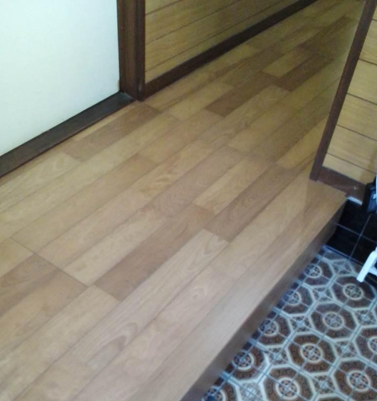 3-2 廊下上張り 廊下板張り⇒フローリング